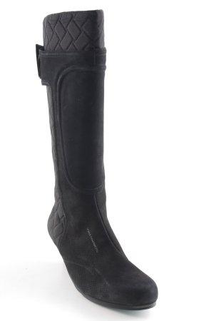 Yohji Yamamoto Absatz Stiefel schwarz Steppmuster extravaganter Stil