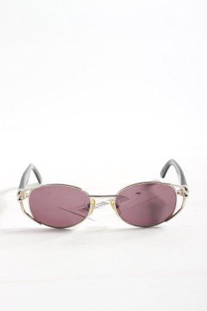 Yohji Yamamoto Lunettes de soleil ovales rose-noir style décontracté