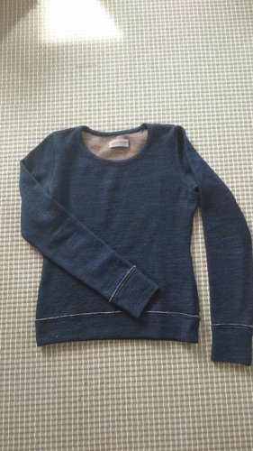 Yohji Yamamoto Pulli blau Pullover jumper Gr 2 XS/S 34/36