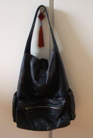 Y-3 Shopper black leather