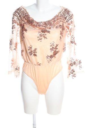 YOINS Blusen-Body creme-bronzefarben Elegant