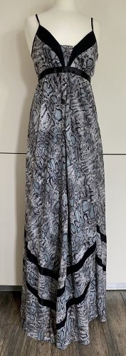YOOM Maxikleid S 36 grau schwarz animal snake Maxi Kleid
