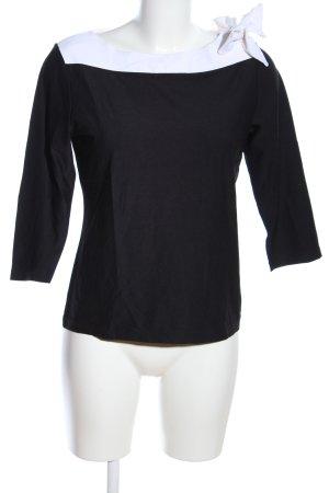 yoors Boatneck Shirt black-white casual look