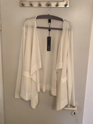 Veste chemisier blanc cassé polyester
