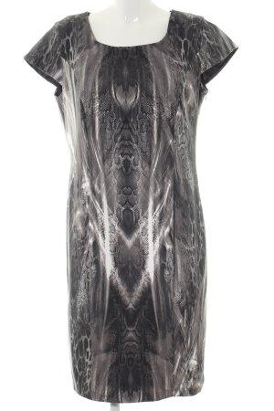 Yorn Kurzarmkleid hellgrau-schwarz Animalmuster Elegant