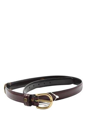 Yorn Cinturón de cuero de imitación marrón look casual