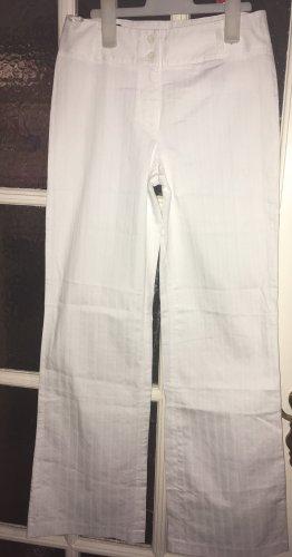 Yorn Pantalon palazzo blanc coton