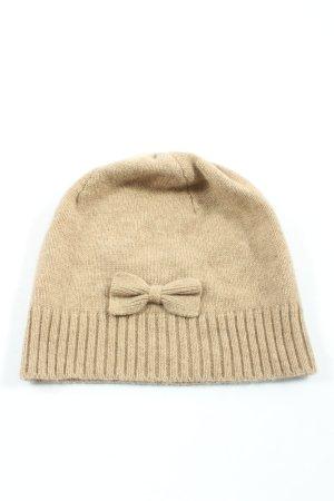 Yorn Chapeau en tricot blanc cassé style décontracté