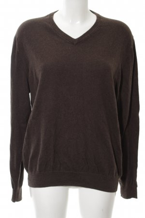 Yorn V-Ausschnitt-Pullover braun Casual-Look