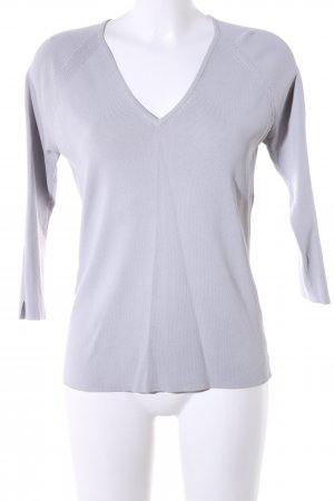 Yorn V-Ausschnitt-Pullover hellgrau Casual-Look