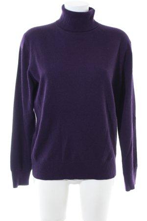Yorn Pull en laine violet style décontracté