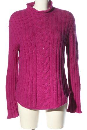 Yorn Warkoczowy sweter różowy Warkoczowy wzór W stylu casual