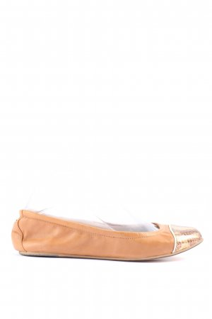 Yosi samra Foldable Ballet Flats nude-gold-colored animal pattern casual look
