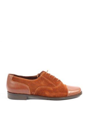 YOU are BEAUTIFUL Sznurowane buty brązowy W stylu biznesowym