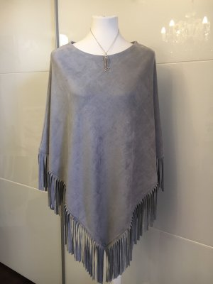 You&Me Fashion Poncho light grey-grey