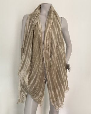 you&me Fringed Scarf sand brown viscose