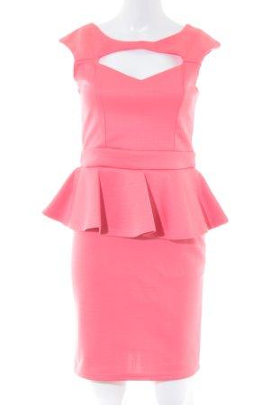 Young Blood Vestido peplum rosa elegante