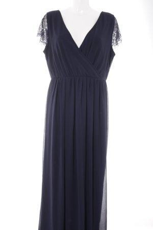 Young Couture by Barbara Schwarzer Abendkleid dunkelblau-silberfarben Elegant