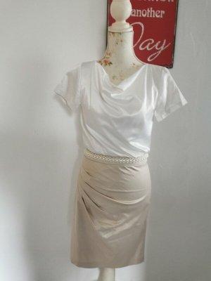 Young Couture by Barbara Schwarzer Cocktailkleid Abendkleid creme weiß Größe 36 neuwertig