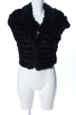 Young Couture by Barbara Schwarzer Bontgilet zwart elegant
