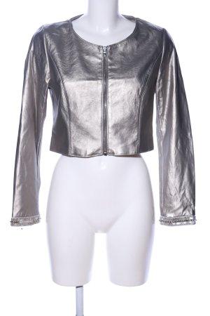 Young Couture by Barbara Schwarzer Kurzjacke silberfarben extravaganter Stil