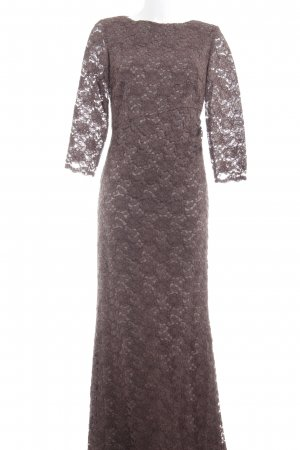 Young Couture by Barbara Schwarzer Maxikleid taupe extravaganter Stil