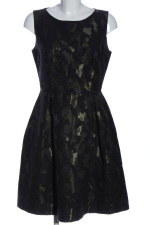 Young Couture by Barbara Schwarzer Abendkleid schwarz-grün Allover-Druck
