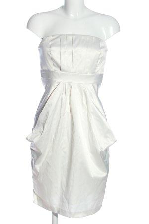 Young Couture by Barbara Schwarzer schulterfreies Kleid weiß Elegant
