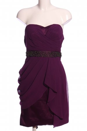 Young Couture by Barbara Schwarzer schulterfreies Kleid lila Elegant