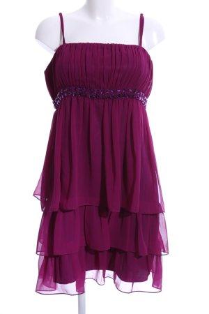 Young Couture by Barbara Schwarzer Volantkleid lila Elegant