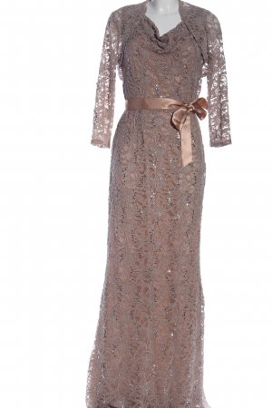 Young Couture by Barbara Schwarzer Woven Twin Set brown elegant