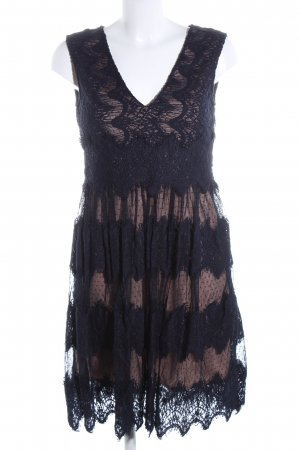 Young Couture Cocktailkleid schwarz-nude Mustermix Elegant