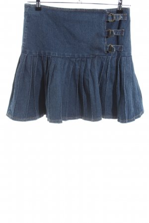 young fashion Jeansrock blau Casual-Look