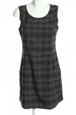 Young Spirit A-Linien Kleid hellgrau-schwarz Karomuster Casual-Look