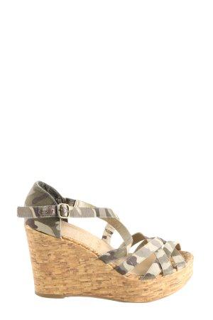 Young Spirit High Heel Sandaletten Camouflagemuster Casual-Look