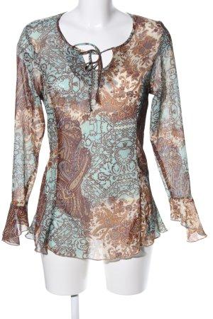 Young Spirit Langarm-Bluse abstraktes Muster Elegant