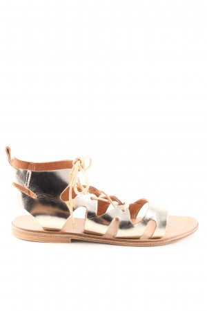 Young Spirit Roman Sandals gold-colored casual look