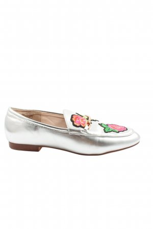 Young Spirit Slip-on Shoes silver-colored-pink flower pattern casual look