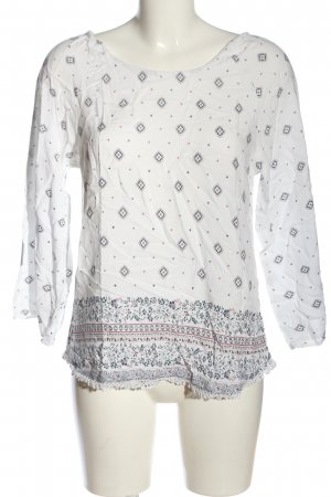 Young Spirit Schlupf-Bluse Allover-Druck Casual-Look
