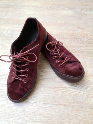 Young Spirit Sneaker 37/38 Bordeaux rot Samt Schuhe