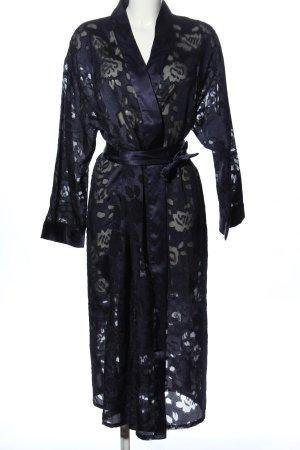 Your 6th Sense Kimono blu motivo floreale elegante