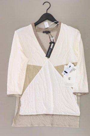 Your Cameo Shirt mit V-Ausschnitt Größe 38 neu mit Etikett 3/4 Ärmel braun aus Viskose
