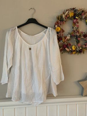 YOUR&SELF Bluse weiß Cotton Italy Gr. 34