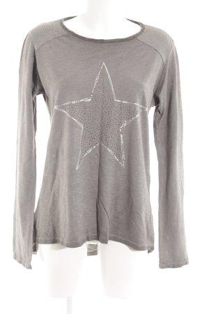 your & self Oversized Shirt graubraun platzierter Druck Casual-Look