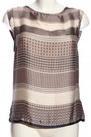 Your Sixth Sense ärmellose Bluse braun-creme grafisches Muster Casual-Look