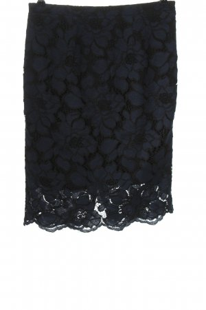 your Sixth sense  c&a Lace Skirt blue-black weave pattern casual look