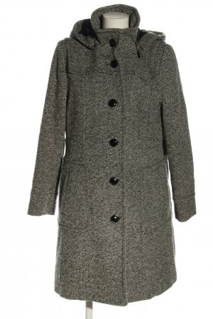 Your Sixth Sense Hooded Coat light grey weave pattern business style