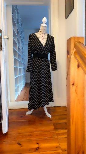 Your Sixth Sense Kleid gestreift 40 schwarz Weiß Mega