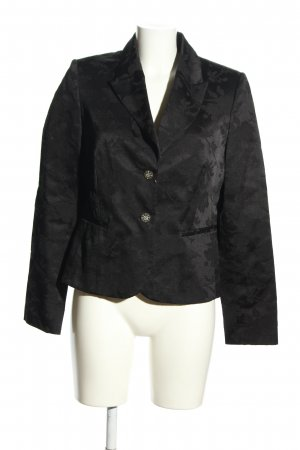 Your Sixth Sense Kurz-Blazer schwarz Blumenmuster Business-Look