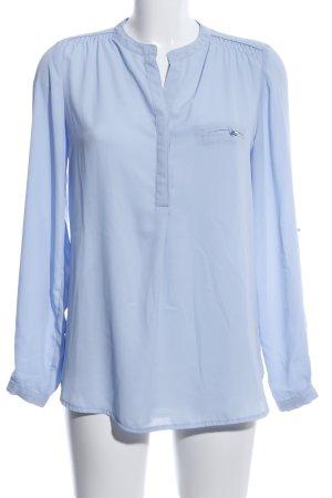 Your Sixth Sense Langarm-Bluse blau Business-Look